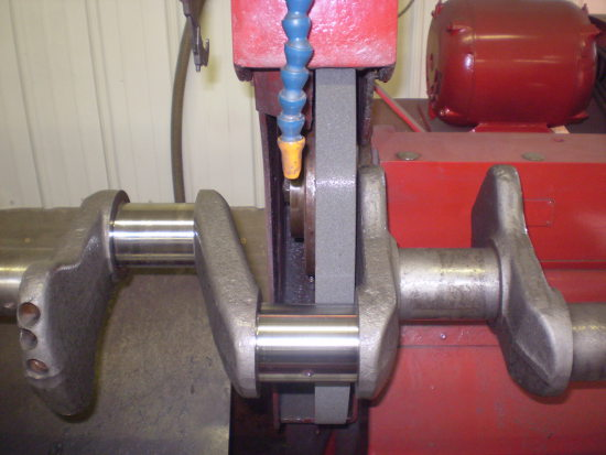 Crankshaft being machined